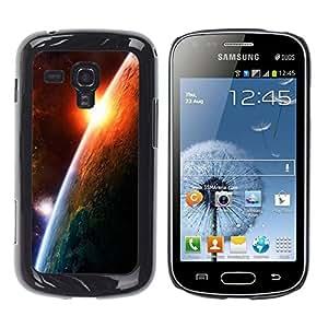 Be Good Phone Accessory // Dura Cáscara cubierta Protectora Caso Carcasa Funda de Protección para Samsung Galaxy S Duos S7562 // Sunrise Planet Earth