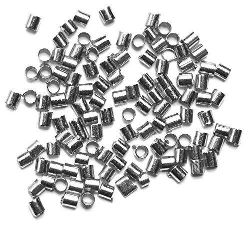 Jewelry Basics Metal Findings-Crimp Tubes Bright Silver (Bright Metal Findings)