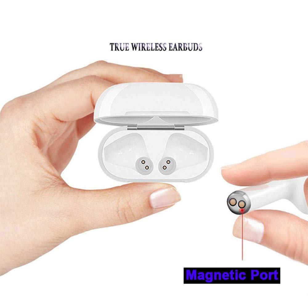 Smartphone Android Auriculares Bluetooth inal/ámbrico Cascos Bluetooth con Caja de Carga con reducci/ón de Ruido Micr/ófono est/éreo Integrado /écouteur Bluetooth para iOS