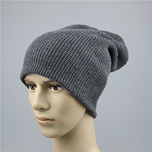 Warm Color Hat Hats Men Winter Dad Gray Spring Dark QETUOAD Gris 4 oscuro For Men'S Beanie Skully Js270A Black Brand Knitted qw1XFX