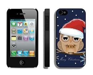 Best Buy Design Christmas Owls iPhone 4 4S Case 3 Black