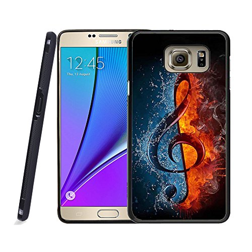 Galaxy Note 5 Case, Samsung Note 5 Black Case, Dsigo TPU Black Full Cover Protective Case for New Samsung Galaxy Note 5 - Ice and Fire collision