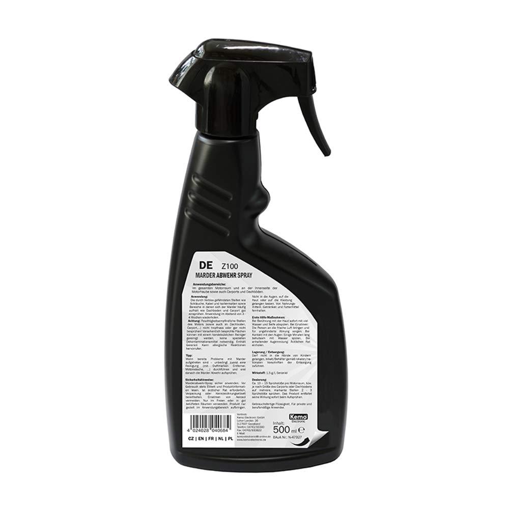 Kemo Z100 Marder Abwehrspray 500 Ml Hochwirksames Hitzebeständiges Konzentrat In Pumpflasche Wirkstoff Geraniol Entspricht Ca 1 3 Liter Unkonzentriert Gewerbe Industrie Wissenschaft