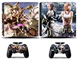Cosines PS4 Slim Stickers Vinyl Decal Protective Console Skins Cover for Sony Playstation 4 Slim and 2 Controllers Final Fantasy XIII