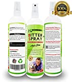 Vet Recommended - Bitter Spray For Dogs - Anti Chew Dog Repellent Spray & Dog Training Tool to Stop Biting - Alcohol Free, Non-Toxic & Safe Chewing Deterrent. Use on Allergy Treatment (8oz/240ml)