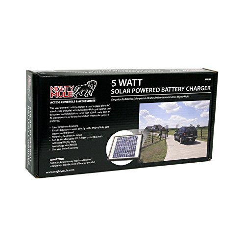 5 Watt Solar Panel Kit (FM121) for Mighty Mule Automatic Gate Openers by Mighty Mule (Image #1)