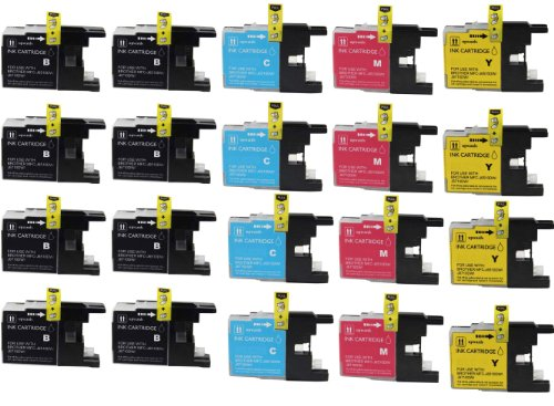 Virtual Outlet ® 20 Pack Compatible Inkjet Cartridges for Brother LC-75 LC75 LC 75 LC-75XL, LC-75BK LC-75C LC-75M LC-75Y High Yield Compatible with Brother MFC-J6510DW, MFC-J6710DW, MFC-J6910DW, MFC-J280W, MFC-J425W, MFC-J430W, MFC-J435W, MFC-J5910DW, MF