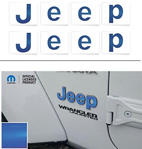 "Reflective Concepts""JEEP"" Fender Emblem Overlay Decal Stickers – 2018 Wrangler JL – (Color: Reflective Blue)"