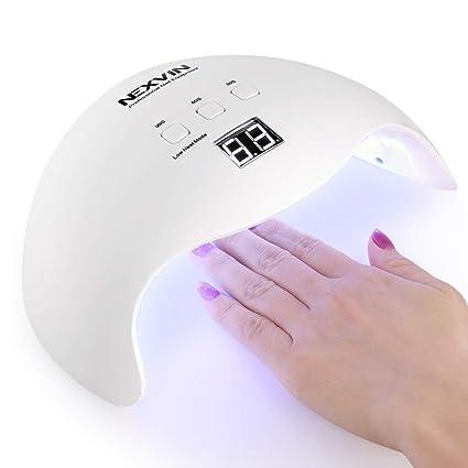 NEXVIN Secador de Uñas 40W, Lámpara LED UV Profesional para Manicura/Pedicura,Lámpara