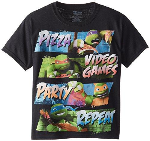 Teenage Mutant Ninja Turtles Big Boys' Short Sleeve T-Shirt Shirt, Dark Black, Large/  14/16 - Big Ninja Turtles