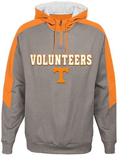 OuterStuff NCAA Tennessee Volunteers Youth Boys Illustrious 1/4 Zip Hoodieed Jacket, Medium(10-12), Light - Jacket Volunteers Tennessee