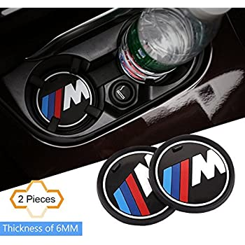 S-WEKA 2PCS M Line Car Interior Accessories Anti Slip Cup Mat for BMW 1 3 5 7 Series F30 F35 320li 316i X1 X3 X4 X5 X6 (2.9