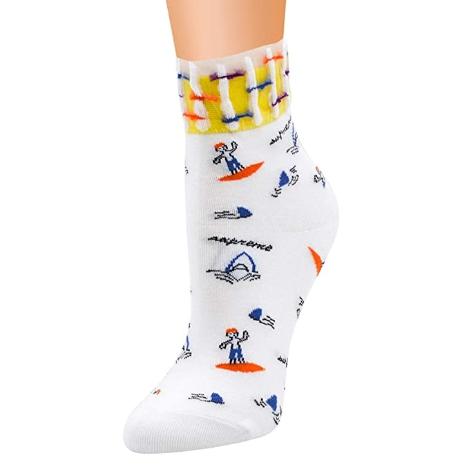 Amazon.com: GOP Store Stripe Dots Girls Colorful Cotton Socks Autumn&Winter Funny Socks: Kitchen & Dining