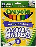 #1: Crayola Washable Markers, Broad Line