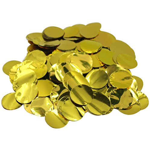 Mybbshower Gold Balloon Confetti New Years Eve Decor 25mm Circle Birthday Party Decoration Pack of 3000 Pieces]()