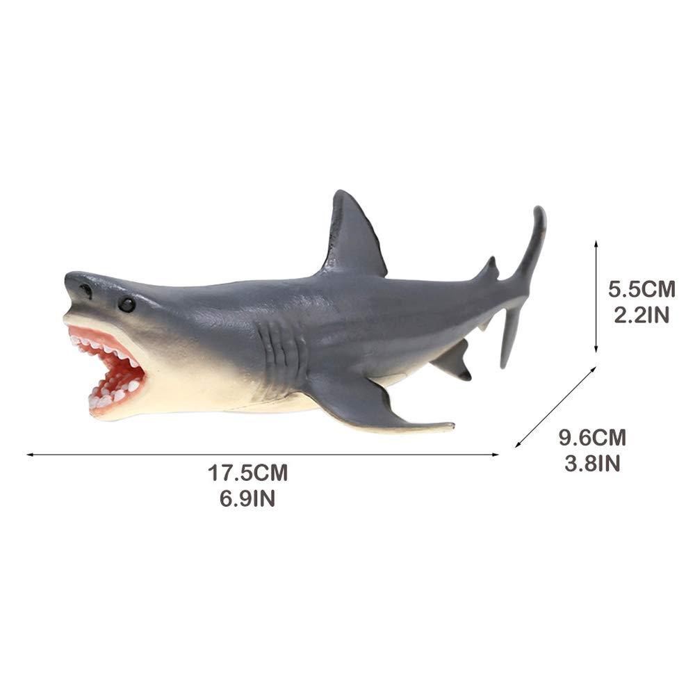 Amakunft Megalodon - Adorno para Acuario, diseño de tiburón, Resina Duradera, Seguro para Todos los Peces y Mascotas acuáticas, Juguetes Meg para ...