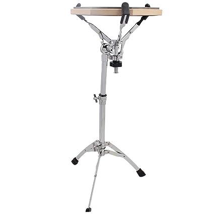 Soporte de tambor tripode ajustable de instrumento musical – de mano plateado metálico