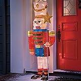 """65"""" Life Size Pre-Lit Tinsel Nutcracker Outdoor Christmas Decor"""