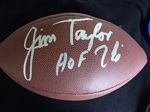 Green Bay Packers Jim Taylor Autographed Signed Football Memorabilia JSA HOF James Taylor - Memorabilia Taylor James