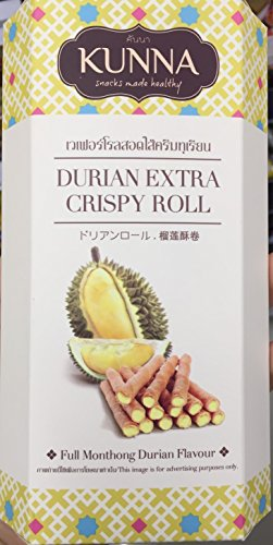 Crispy Rolls,Durian Extra Crispy Roll-Full Monthong Durian Flavour,70g. (Jeff Dunham Peanut Costume)