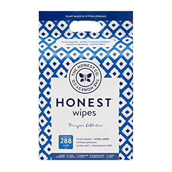The Honest Company Designer Baby Wipes, Blue Ikat, 288 Count