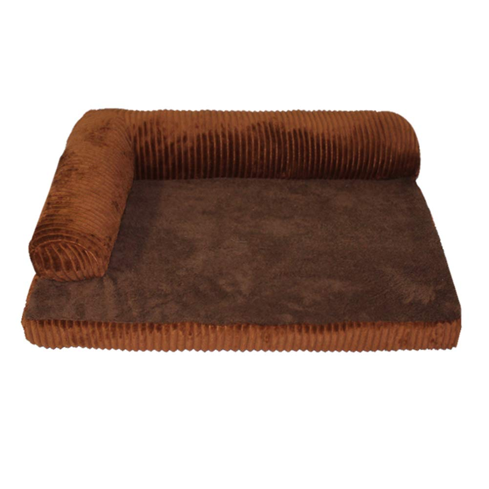 68×58cm ZXL Rectangle Pet Bed, Orthopedic Dog Bed, for Small Medium Large Dogs, Provide Support for The Head and Neck (Size   68×58cm)