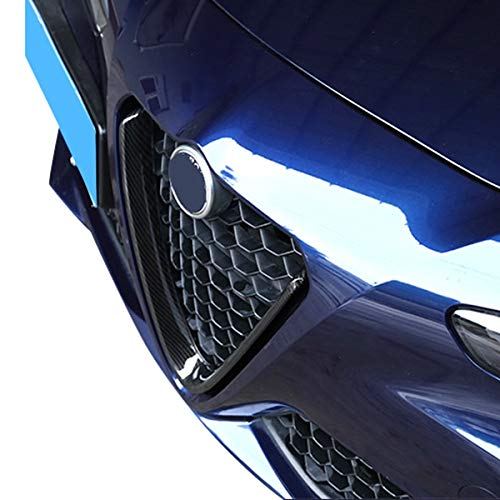 Nrpfell Carbon Fiber Style For Alfa Romeo Giulia 2017 2018 Abs Plastic Front Grill Decoration Frame Car Accessories 1Pc
