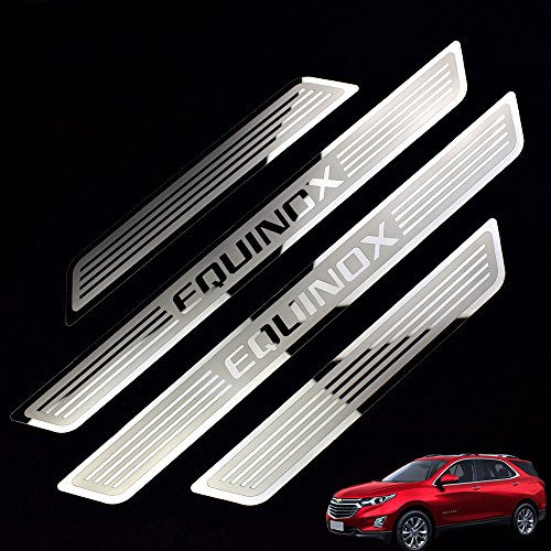 Car Stainless Steel Door Sill Scuff Plate for Chevrolet EQUINOX 2015-2018