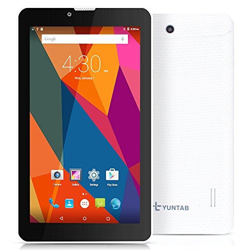 YUNTAB E706 Tablet 7 zoll Android 5.1 Mtk8321 Quad Core Tablet Full hd IPS 1024*600 8GB Ram 2MP Tablet Und Telefon Tablet Mit Simkarte GPS Bluetooth Tablet (E706,Weiß)