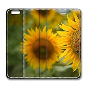 iPhone 6 Plus Case, Fashion Protective PU Leather Flip Case [Stand Feature] Cover Beautiful Sunflowers for New Apple iPhone 6(5.5 inch) Plus