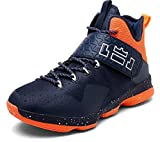 Women's Men's Performance Sports Basketball Shoes Breathable Lightweight Fashion Sneakers By JiYe,Blue orange