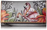Anuschka Hand Painted Leather | Women's Three Fold Clutch | Flamboyant Flamingos