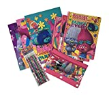Trolls School Supplies Bundle for Young Girls and Boys - Featuring Poppy - Pink and Rainbow Folders, Notebooks, Pencils and Pencil Case