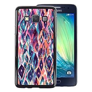 A-type Arte & diseño plástico duro Fundas Cover Cubre Hard Case Cover para Samsung Galaxy A3 (Animal Pattern Watercolor Art Peach)
