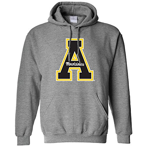 Campus Merchandise NCAA Appalachian State Mountaineers Men's Long Sleeve Hoodie, Large, Athletic Heather