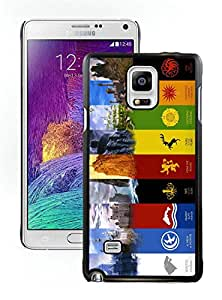 Unique and Easy Use Case game of thrones Black Case for Samsung Galaxy Note 4