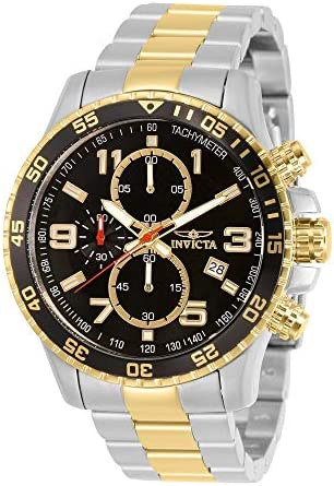 Invicta Men s 14876 Specialty Chronograph 18k Gold Ion-Plated and Stainless Steel Watch