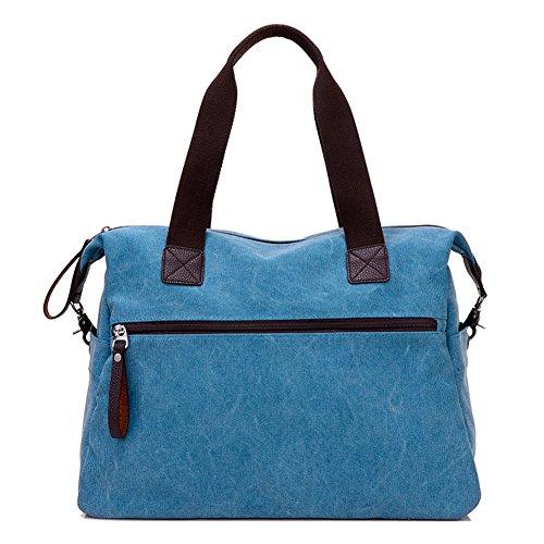 Tela Donna Shoulder Messenger marrone Borse Grande Donna Nuovo Borsa Bag Donna Nclon Cachi Manico Elegante Viaggio Spalla Superiore IxqfYnE