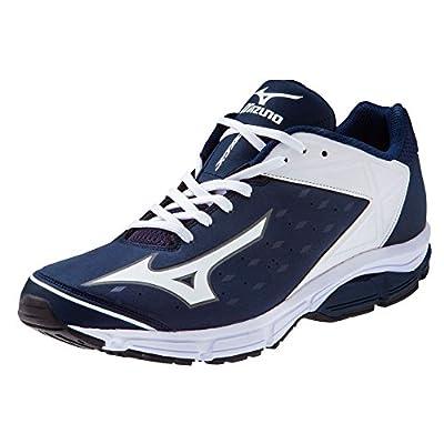 Mizuno Men's Wave Swagger 2 Trainer Baseball Shoe - Navy & White