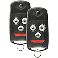 Discount Keyless Replacement Uncut Trunk Car Remote Fob Key Combo Compatible with MLBHLIK-1T (2 Pack)