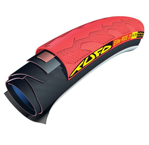 Tufo 700X25 Elite Ride 25 Tubular Tire (Red)