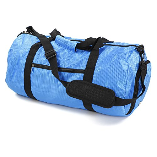 Cheap 23″ Large Sports Duffel Gym/Travel Bag Carry On Collapsible Lightweight Sports Gym Bag (Royal Blue)