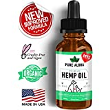 Hemp Oil for Dogs and Cats by Pure Aloha Pets - Organic Full Spectrum Extract - 300 mg - Calming Supplement with Coconut Oil
