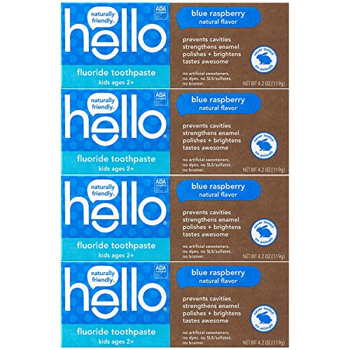 🥇 Hello Oral Care ADA Approved SLS Free Kids Fluoride Toothpaste