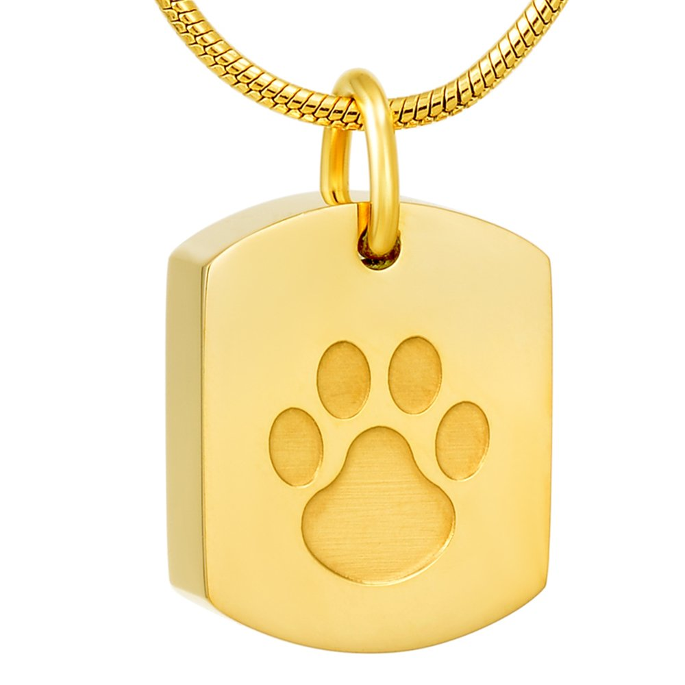 Paw Print Cremation Jewelry for Ashes Human Ashes Holder Memorial Keepsake Jewelry for Pet's/cat/dog's Ashes Minicremation necklace ZQ-8003