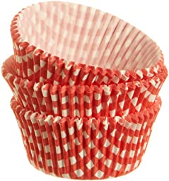 Wilton Red Gingham Standard Baking Cups, 75 Count