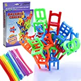 Balancing Toys Plastic Chairs, Multiplayer Balance Game Chairs Stacking Tower 18 Chair Toys and 10 puzzle twist sticks Set Interesting Stack Board Games