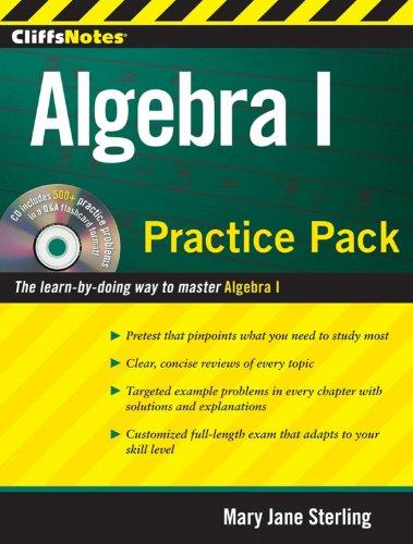 CliffsNotes Algebra I Practice Pack (CliffsNotes (Paperback))