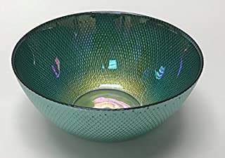 """Circleware 03121 Radiance Glass Serving Mixing Fruit Bowl, Glassware for Salad, Punch, Beverage, Ice Cream, Dessert, Food and Best Selling Home & Kitchen Decor Gifts, 10"""", Teal Luster (B07FMHJ6TF) 
