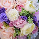 Abbie-Home-Bride-Bouquets-85-Artificial-Roses-Daisy-Dahila-in-Pink-Lavender-White-Wedding-Bridal-Flower